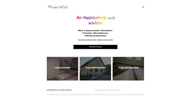Homepage - Erstellung